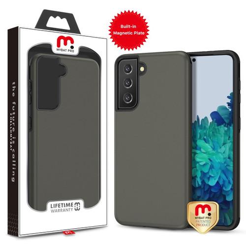MyBat Pro MyBat Pro Fuse Series Case (with Magnetic Plate) for Samsung Galaxy S21 Plus - Rubberized Gunmetal Gray / Black