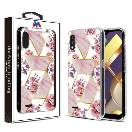 MyBat Fusion Protector Cover for Lg K22 - Electroplated Roses Marbling