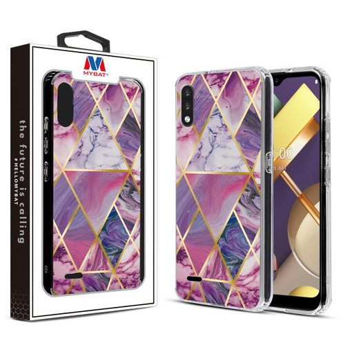 MyBat Fusion Protector Cover for Lg K22 - Electroplated Purple Marbling