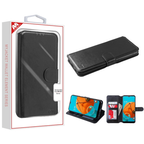 MyBat MyJacket Wallet Element Series for LG K51 / Reflect - Black