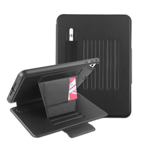 MyBat Pro Leather Folio Case Includes Card Slots & Pencil Holder for Apple iPad mini 4 (A1538,A1550) / iPad mini (2019) - Black