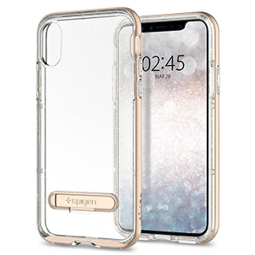Spigen Crystal Hybrid Glitter Case for Apple iPhone X / XS - Gold Quartz
