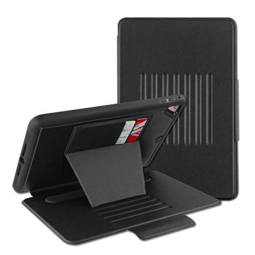 MyBat Pro Leather Folio Case Includes Card Slots & Pencil Holder for Apple iPad 9.7 (2017) (A1822,A1823)/iPad Pro 9.7 (A1673,A1674,A1675) / iPad 9.7 (2018) (A1954,A1893) - Black