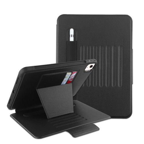 MyBat Pro Leather Folio Case Includes Card Slots & Pencil Holder for Apple iPad Air 10.9 (2020)/iPad Pro 11 (2020) / iPad Pro 11 (2018) (A1934,A1979,A1980,A2013) - Black