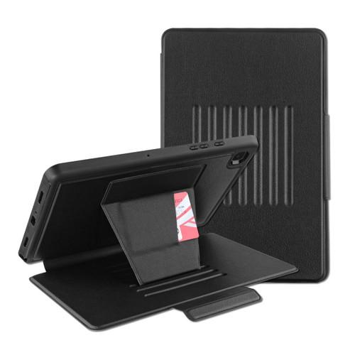 MyBat Pro Leather Folio Case Includes Card Slots & Pencil Holder for Samsung T500 (Galaxy Tab A7 10.4 (2020)) - Black