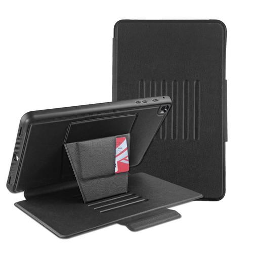 MyBat Pro Leather Folio Case Includes Card Slots & Pencil Holder for Samsung T510 (Galaxy Tab A 10.1 (2019)) - Black