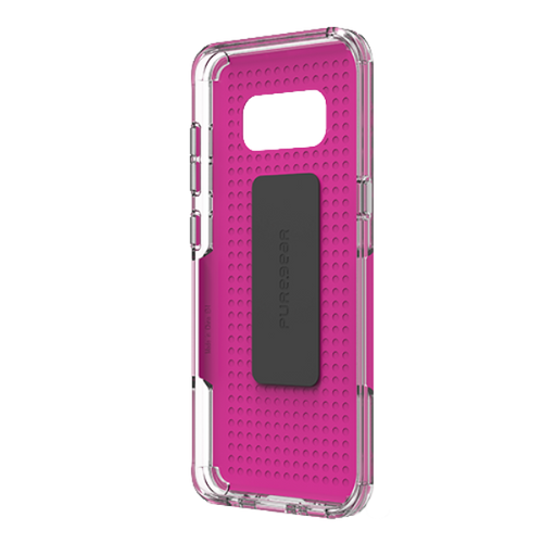 PureGear DualTek Pro Case for Samsung Galaxy S8+ - Pink / Clear