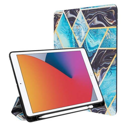 MyBat Slim Fit Smart MyJacket with Trifold Stand for Apple iPad 10.2 (2019) (A2197, A2200, A2198) / iPad 10.2 (2020) - Black / Blue Mixed Marbling
