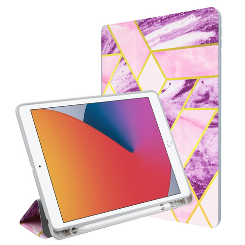 MyBat Slim Fit Smart MyJacket with Trifold Stand for Apple iPad 10.2 (2019) (A2197, A2200, A2198) / iPad 10.2 (2020) - Purple / Pink Mixed Marbling