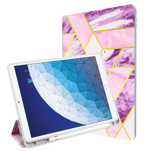 MyBat Slim Fit Smart MyJacket with Trifold Stand for Apple iPad Pro 10.5 (A1701,A1709,A1852) / iPad Air 10.5 (2019) - Purple / Pink Mixed Marbling