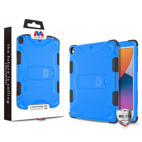 MyBat TUFF Hybrid Protector Case (with Stand)[Military-Grade Certified] for Apple iPad 10.2 (2019) (A2197, A2200, A2198)/iPad 10.2 (2020) / iPad Air 10.5 (2019) - Natural Dark Blue / Black