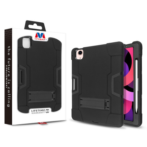 MyBat Symbiosis Stand Protector Cover for Apple iPad Air 10.9 (2020) - Black / Black