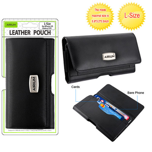 Airium L Size Horizontal Pouch-Card Series - Black