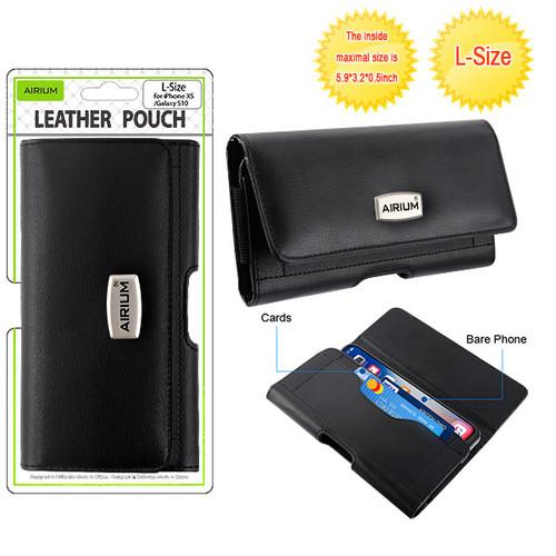 Airium L Size Horizontal Pouch-Card Series - Black
