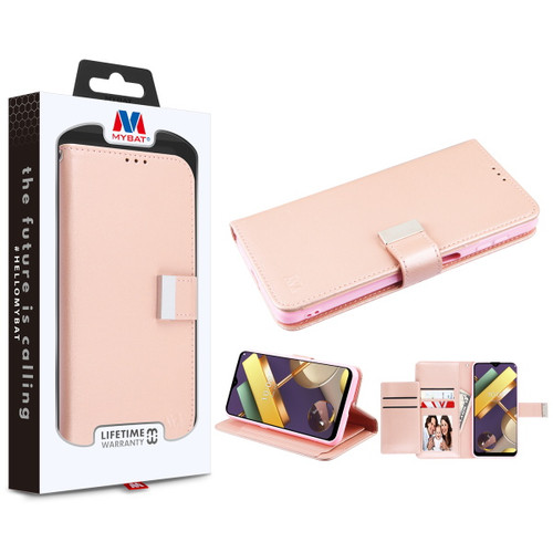 MyBat MyJacket Wallet Xtra Series for LG K22 - Rose Gold