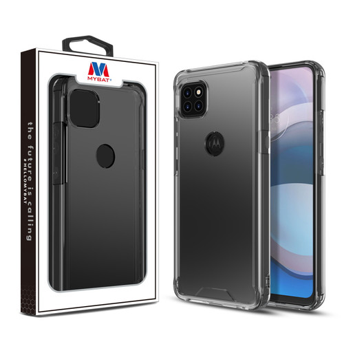 MyBat Sturdy Gummy Cover for Motorola one 5G ace - Highly Transparent Clear / Transparent Clear