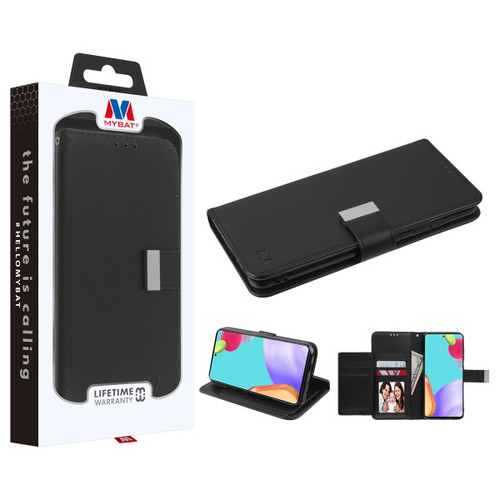 MyBat MyJacket Wallet Xtra Series for Samsung Galaxy A52 5G - Black / Black