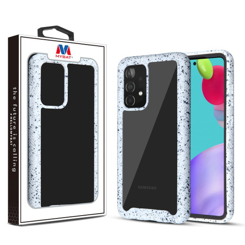 MyBat Splash Hybrid Case for Samsung Galaxy A52 5G - Highly Transparent Clear / White