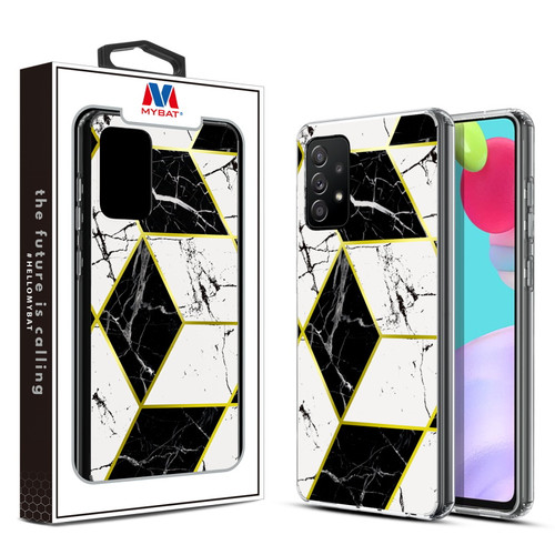 MyBat Fusion Protector Cover for Samsung Galaxy A52 5G - Electroplated Black Marbling