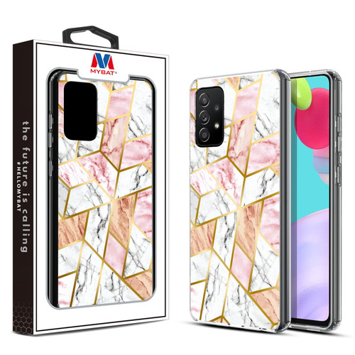 MyBat Fusion Protector Cover for Samsung Galaxy A52 5G - Electroplated Pink Marbling