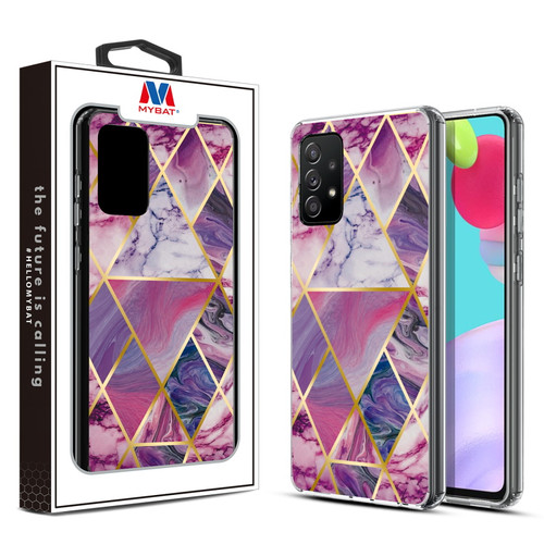 MyBat Fusion Protector Cover for Samsung Galaxy A52 5G - Electroplated Purple Marbling
