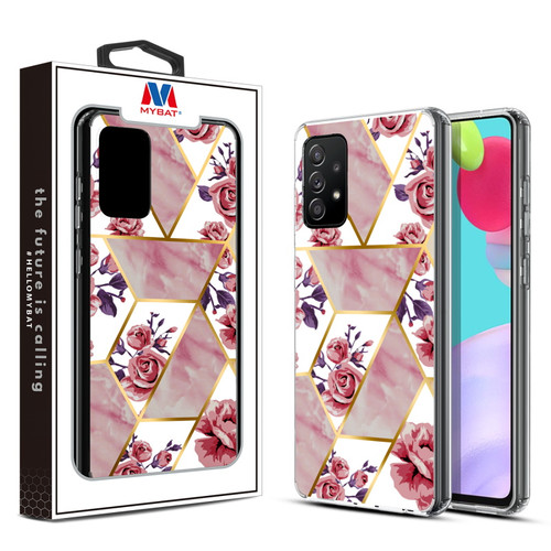 MyBat Fusion Protector Cover for Samsung Galaxy A52 5G - Electroplated Roses Marbling