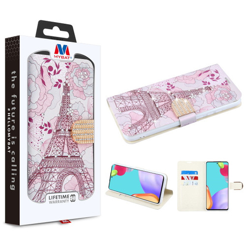 MyBat MyJacket Wallet Diamond Series for Samsung Galaxy A52 5G - Eiffel Tower