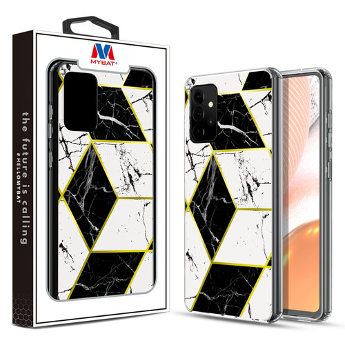 MyBat Fusion Protector Cover for Samsung Galaxy A72 5G - Electroplated Black Marbling