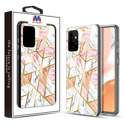 MyBat Fusion Protector Cover for Samsung Galaxy A72 5G - Electroplated Pink Marbling