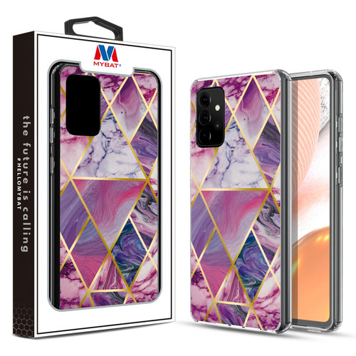MyBat Fusion Protector Cover for Samsung Galaxy A72 5G - Electroplated Purple Marbling