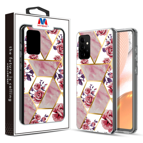MyBat Fusion Protector Cover for Samsung Galaxy A72 5G - Electroplated Roses Marbling