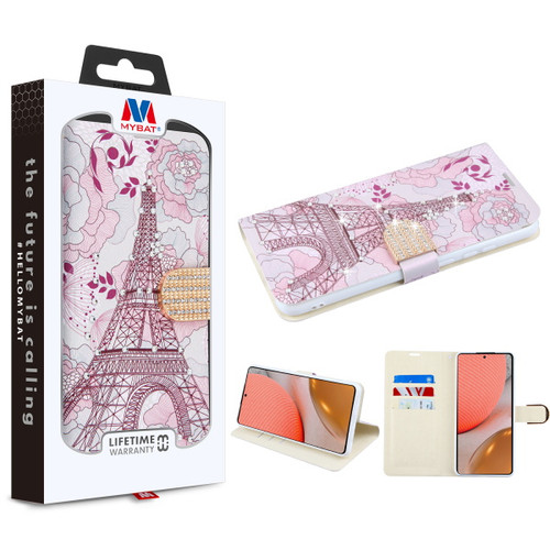 MyBat MyJacket Wallet Diamond Series for Samsung Galaxy A72 5G - Eiffel Tower