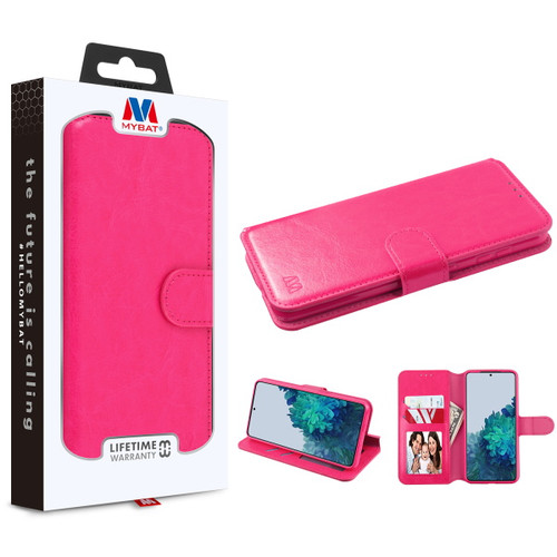 MyBat MyJacket Wallet Element Series for Samsung Galaxy S21 Plus - Hot Pink