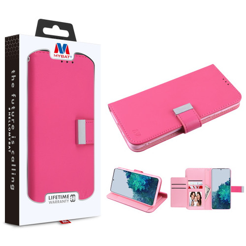 MyBat MyJacket Wallet Xtra Series for Samsung Galaxy S21 Plus - Hot Pink / Pink