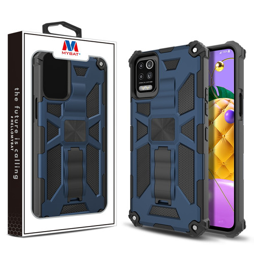 MyBat Sturdy Hybrid Protector Cover (with Stand) for LG K53 / K52 - Ink Blue / Black