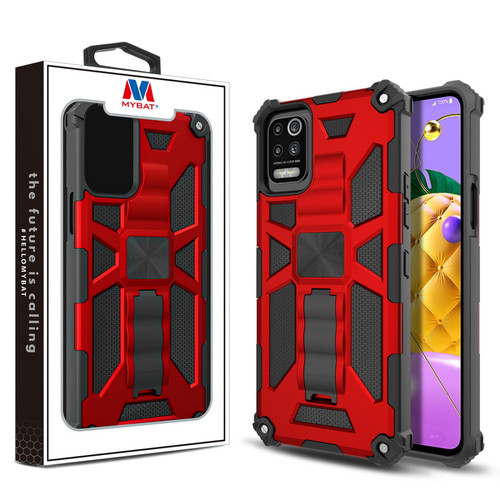 MyBat Sturdy Hybrid Protector Cover (with Stand) for LG K53 / K52 - Red / Black