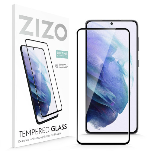 ZIZO TEMPERED GLASS Screen Protector (No Fingerprint Sensor) for Galaxy S21 Plus Full Glue Clear Screen Protector (No Fingerprint Sensor) with Anti Scratch and 9H Hardness - Black GLSHD-SAMGS2167-BLK