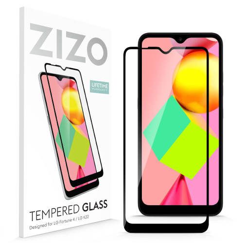 ZIZO TEMPERED GLASS Screen Protector for LG K22 Full Glue Clear Screen Protector with Anti Scratch and 9H Hardness - Black GLSHD-LGFTN4-BLK