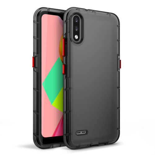 ZIZO SURGE Series for LG K22 Case - Sleek Clear Case Customizable Buttons - Smoke SUR-LGFTN4-SM