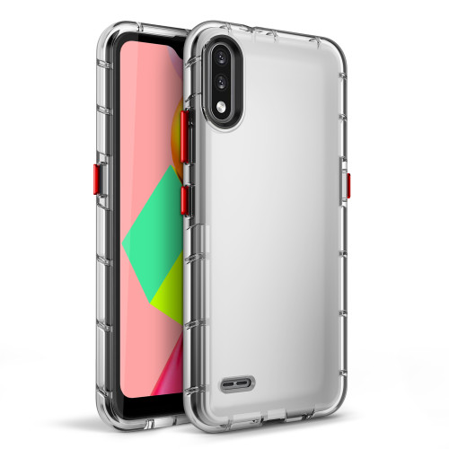 ZIZO SURGE Series for LG K22 Case - Sleek Clear Case Customizable Buttons - Clear SUR-LGFTN4-CL