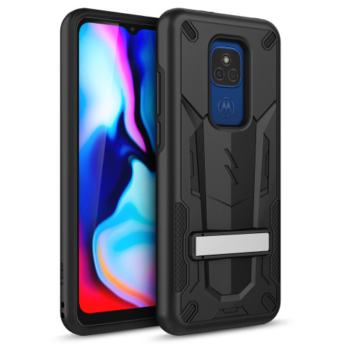 ZIZO TRANSFORM Series for Moto G Play (2021) Case - Rugged Dual-layer Protection with Kickstand - Black TFM-MOTXT2093-BKBK