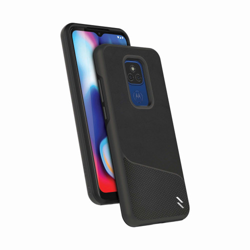 ZIZO DIVISION Series for Moto G Play (2021) Case - Sleek Modern Protection - Nylon Black DVS-MOTXT2093-NYBK