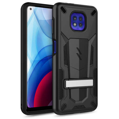 ZIZO TRANSforM Series for Moto G Power (2021) Case - Rugged Dual-layer Protection with Kickstand - Black TFM-MOT2117PWR-BKBK
