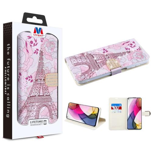 Moto G Stylus (2021) - MyBat MyJacket Wallet Diamond Series for Motorola Moto G Stylus (2021) - Eiffel Tower