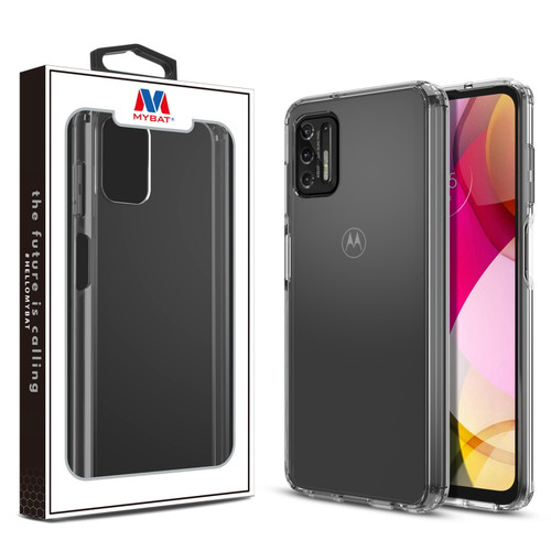 Moto G Stylus (2021) - MyBat Sturdy Gummy Cover for Motorola Moto G Stylus (2021) - Highly Transparent Clear / Transparent Clear