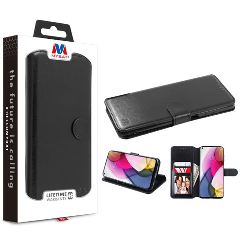 Moto G Stylus (2021) - MyBat MyJacket Wallet Element Series for Motorola Moto G Stylus (2021) - Black