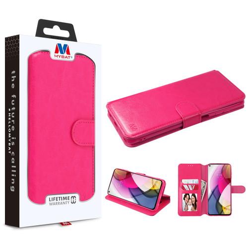 Moto G Stylus (2021) - MyBat MyJacket Wallet Element Series for Motorola Moto G Stylus (2021) - Hot Pink