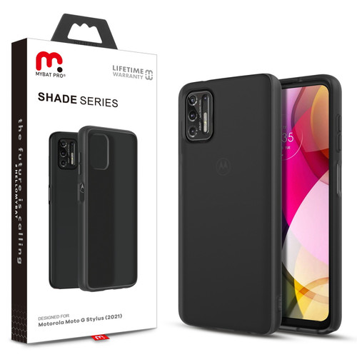 Moto G Stylus (2021) - MyBat Pro Shade Series Case for Motorola Moto G Stylus (2021) - Smoke