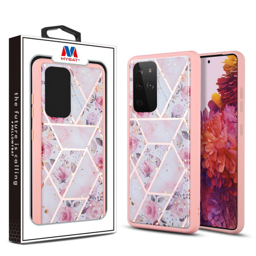 Galaxy S21 Ultra - MyBat Hybrid Case for Samsung Galaxy S21 Ultra - Roses Marbling / Pink