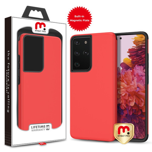 Galaxy S21 Ultra - MyBat Pro Fuse Series Case with Magnet for Samsung Galaxy S21 Ultra - Red